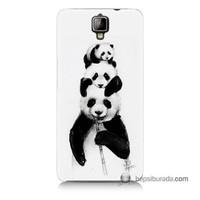 Teknomeg General Mobile Discovery 2 Kapak Kılıf Panda Ailesi Baskılı Silikon