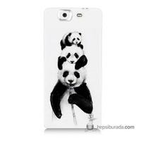 Teknomeg Casper Via V8 Kapak Kılıf Panda Ailesi Baskılı Silikon