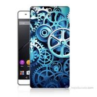 Teknomeg Sony Xperia C5 Çarklar Baskılı Silikon Kılıf