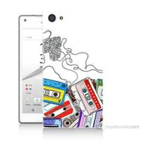 Teknomeg Sony Xperia Z5 Kasetler Baskılı Silikon Kılıf