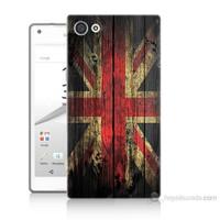 Teknomeg Sony Xperia Z5 İngiliz Bayrağı Baskılı Silikon Kılıf