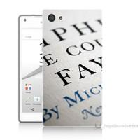 Teknomeg Sony Xperia Z5 Yazılar Baskılı Silikon Kılıf