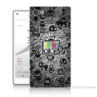 Teknomeg Sony Xperia Z5 Renkli Tv Baskılı Silikon Kılıf