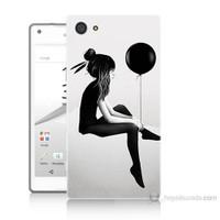 Teknomeg Sony Xperia Z5 Balonlu Kız Baskılı Silikon Kılıf