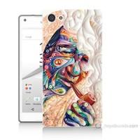 Teknomeg Sony Xperia Z5 Kağıt Sanatı Baskılı Silikon Kılıf
