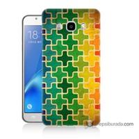 Teknomeg Samsung J7 2016 Kapak Kılıf Renkli Artı Baskılı Silikon