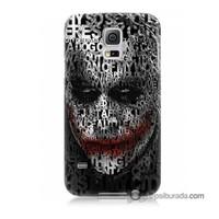 Teknomeg Samsung Galaxy S5 Mini Kapak Kılıf Joker Baskılı Silikon