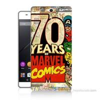 Teknomeg Sony Xperia C5 Marvel Karakterleri Baskılı Silikon Kılıf