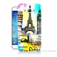 Teknomeg Samsung Galaxy A8 Kapak Kılıf Avrupa Baskılı Silikon