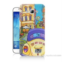 Teknomeg Samsung Galaxy A8 Kapak Kılıf Sarı Wolsvagen Baskılı Silikon