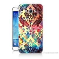 Teknomeg Samsung Galaxy A8 Kapak Kılıf Çiçek Motifi Baskılı Silikon