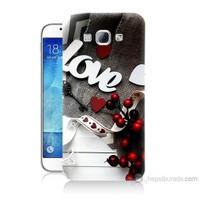 Teknomeg Samsung Galaxy A8 Kapak Kılıf Love Baskılı Silikon
