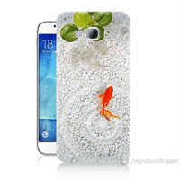 Teknomeg Samsung Galaxy A8 Kapak Kılıf Kırmızı Balık Baskılı Silikon