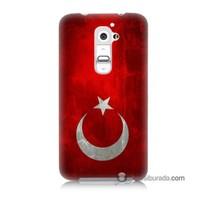 Teknomeg Lg G2 Kılıf Kapak Türkiye Bayrağı Baskılı Silikon