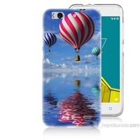 Teknomeg Vodafone Smart 6 Renkli Balonlar Baskılı Silikon Kapak Kılıf