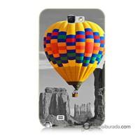 Teknomeg Samsung Galaxy Note 2 Kılıf Kapak Renkli Uçan Balon Baskılı Silikon
