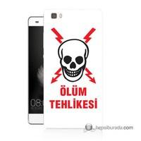 Teknomeg Huawei Ascend P8 Lite Kapak Kılıf Ölüm Tehlikesi Baskılı Silikon
