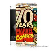Teknomeg Huawei Ascend P8 Lite Kılıf Kapak Marvel Karakterleri Baskılı Silikon
