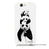 Teknomeg Huawei Ascend G7 Kapak Kılıf Panda Ailesi Baskılı Silikon