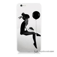 Teknomeg İphone 6 Plus Kapak Kılıf Balonlu Kız Baskılı Silikon