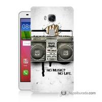 Teknomeg Huawei Gr5 Kapak Kılıf Müzik Hayattır Baskılı Silikon