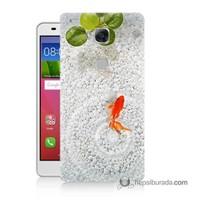 Teknomeg Huawei Gr5 Kapak Kılıf Kırmızı Balık Baskılı Silikon