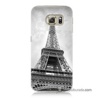 Teknomeg Samsung Galaxy S6 Kapak Kılıf Eyfel Kulesi Baskılı Silikon