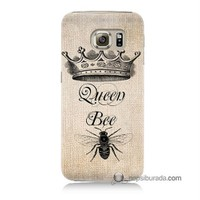 Teknomeg Samsung Galaxy S6 Kılıf Kapak Queen Bee Baskılı Silikon