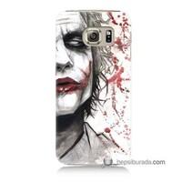 Teknomeg Samsung Galaxy S6 Kapak Kılıf Kanlı Joker Baskılı Silikon