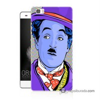 Teknomeg Huawei P8 Lite Kapak Kılıf Charlie Chaplin Baskılı Silikon