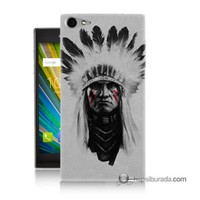 Teknomeg Casper Via V9 Kılıf Kapak Geronimo Baskılı Silikon