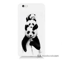 Teknomeg İphone 6S Kapak Kılıf Panda Ailesi Baskılı Silikon
