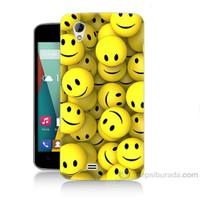 Teknomeg General Mobile Discovery 2 Mini Smile Baskılı Silikon Kapak Kılıf