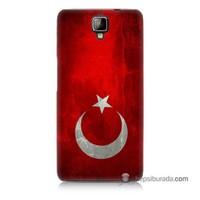 Teknomeg General Mobile Discovery 2 Plus Kılıf Kapak Türkiye Bayrağı Baskılı Silikon