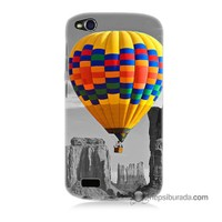 Teknomeg General Mobile Discovery Kılıf Kapak Renkli Uçan Balon Baskılı Silikon