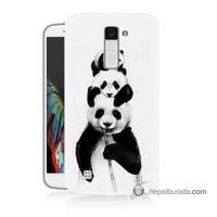 Teknomeg Lg K10 Kapak Kılıf Panda Ailesi Baskılı Silikon