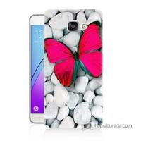 Teknomeg Samsung Galaxy A7 2016 Kapak Kılıf Kelebek Baskılı Silikon