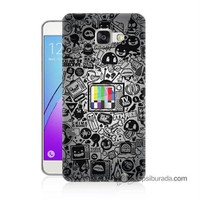 Teknomeg Samsung Galaxy A7 2016 Kapak Kılıf Renkli Tv Baskılı Silikon