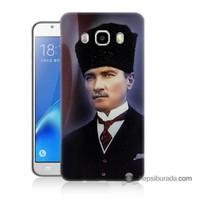Teknomeg Samsung J7 2016 Kılıf Kapak Mustafa Kemal Atatürk Baskılı Silikon