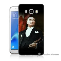Teknomeg Samsung J7 2016 Kapak Kılıf M.K.Atatürk Baskılı Silikon