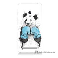 Teknomeg Asus Zenfone 5 Kılıf Kapak Boksör Panda Baskılı Silikon