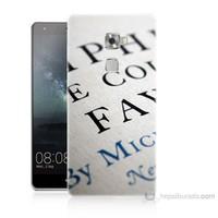 Teknomeg Huawei Ascend Mate S Yazılar Baskılı Silikon Kılıf
