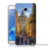 Teknomeg Samsung J7 2016 Kapak Kılıf Galata Kulesi Baskılı Silikon