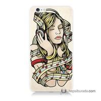 Teknomeg İphone 6S Kapak Kılıf Müzik Aşkı Baskılı Silikon