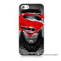 Teknomeg İphone Se Kapak Kılıf Batman Vs Superman Baskılı Silikon