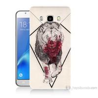 Teknomeg Samsung Galaxy J7 2016 Kapak Kılıf Kanlı Aslan Baskılı Silikon