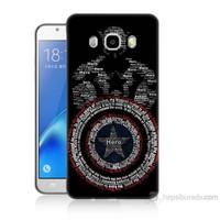 Teknomeg Samsung Galaxy J7 2016 Kapak Kılıf Kaptan Amerika Baskılı Silikon
