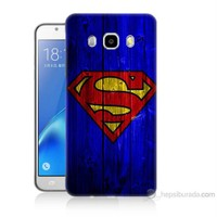 Teknomeg Samsung Galaxy J7 2016 Kapak Kılıf Superman Baskılı Silikon