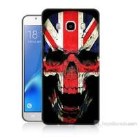 Teknomeg Samsung Galaxy J7 2016 Kapak Kılıf İngiltere Baskılı Silikon