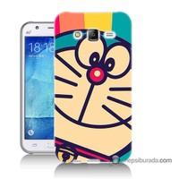 Teknomeg Samsung Galaxy J7 Kapak Kılıf Hırçın Kedi Baskılı Silikon